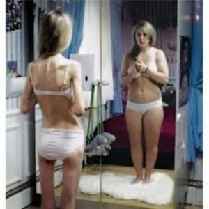 how an anorexic girl sees herself